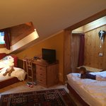 Main living area in junior suite Genzianella