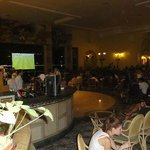 Lobby bar when Germany were playing