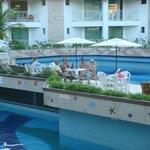 áreas das piscinas