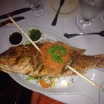 Whole red snapper.  Make sure you share this dish. Plenty for two. It was 2- 2 1/2 pounds!  Deli