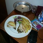 Had room service the first night!