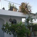 La terrasse devant notre chambre