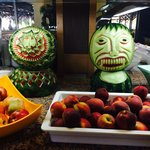 The watermelon carvings