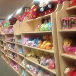 That's a lot of stuffed animals!