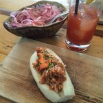 Lobster roll, bloody mary and coleslaw!