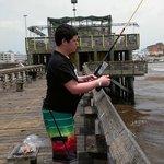 Nate fishing away!