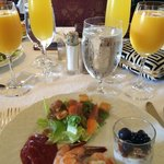 Amazing brunch at The Hamptons