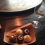 Wine tasting paired with cupcakes
