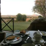 The view at breakfast time