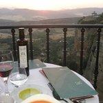 Montelirio- sunset at dinner