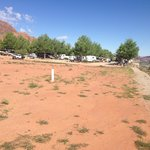 Dirt field created very dusty conditions across RV park.