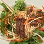 Beef satay with vermicelli