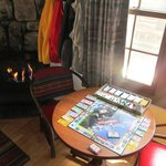 Borrow a board game from the front desk (National Parks Monopoly)