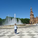 Fuente central en Plaza España.