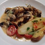 Chicken with mushrooms and cream