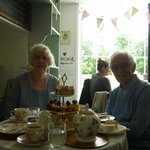 Mum and Dad (they even put a candle on the scone on the top)