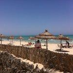 La plage en bordure de L'hotel