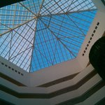 Looking up in the lobby area