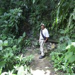 Hiking in through the jungle