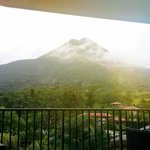 View of the Arenal volcano from the Lava Bar balcony which is on the 5 floor of the hotel.