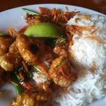 Small Pei Wei Thai Dynamite w/chicken & white rice!  Scrumptious!