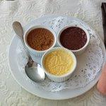 Trio de crèmes prises en pot (menu 29 € )
