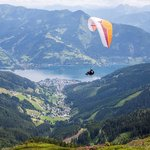 a view from the Scmittenhoe looking down towrds Zell am see