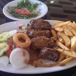 one of the great meals served at yiannis village