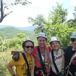 Zip Lining with the Bridal Party