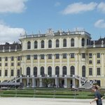 the front of the palace / schloss