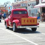old cars show on the boardwalk