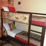 Kids bunks and area, also had a pull out bed inderneath