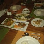 Lovely thai food at sea dance
