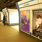 Sam Smith Poster at Victoria Station London