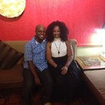 My babe and I at my birthday dinner
