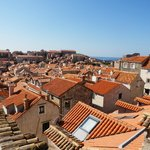 Atop the walled city of Dubrovnik Croatia