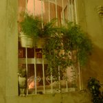 An apartment window in Dubrovnik Croatia