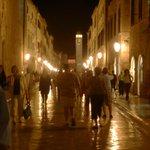 At night in Dubrovnik Croatia