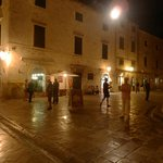 Beautiful night in the walled city of Dubrovnik