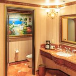 Bathroom of double king room on 6th floor of Tuscany Tower