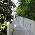 Walkway between rooms