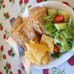 Fresh Bembridge crab sandwich