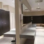 Indoor pool area changing rooms