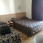Bedroom. Double and single bed
