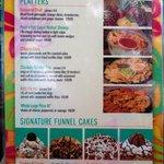 Cabana food menu