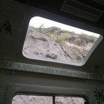 Asi se ve por la ventana superior del  tren