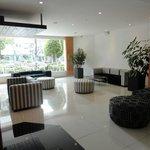 spacious lobby area