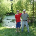 My grandson and our guide, Butch