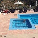 swimming pools under villas' balcony