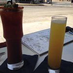 Mimosa and Bloody Mary.  Perfect brunch!